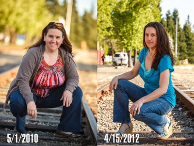 Heather Montgomery - before and after losing 75 pounds