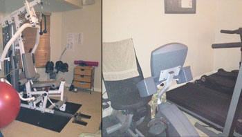 Heather's home gym used to lose 75 pounds