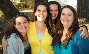Heather with her sisters in 2011